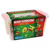 Магнитный конструктор Mag-Wisdom 91 деталь