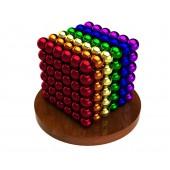 Куб из магнитных шариков 6 мм (разноцветный 6 цветов), 216 элементов