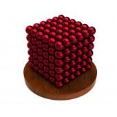 Куб из магнитных шариков 6 мм (красный), 216 элементов