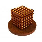 Куб из магнитных шариков 5 мм (оранжевый), 216 элементов