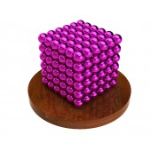 Куб из магнитных шариков 5 мм (розовый), 216 элементов