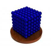 Куб из магнитных шариков 6 мм (синий), 216 элементов