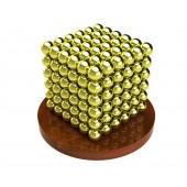 Куб из магнитных шариков 6 мм (золотой), 216 элементов