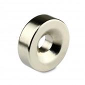 Неодимовый магнит диск 15х3мм с зенковкой 7/3 мм